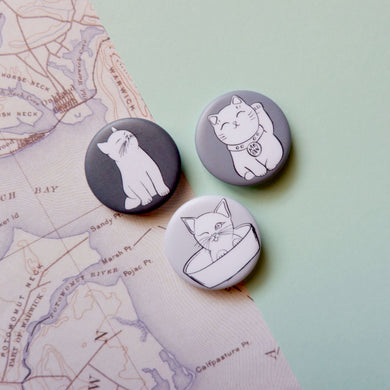 Cats Button Pin Set