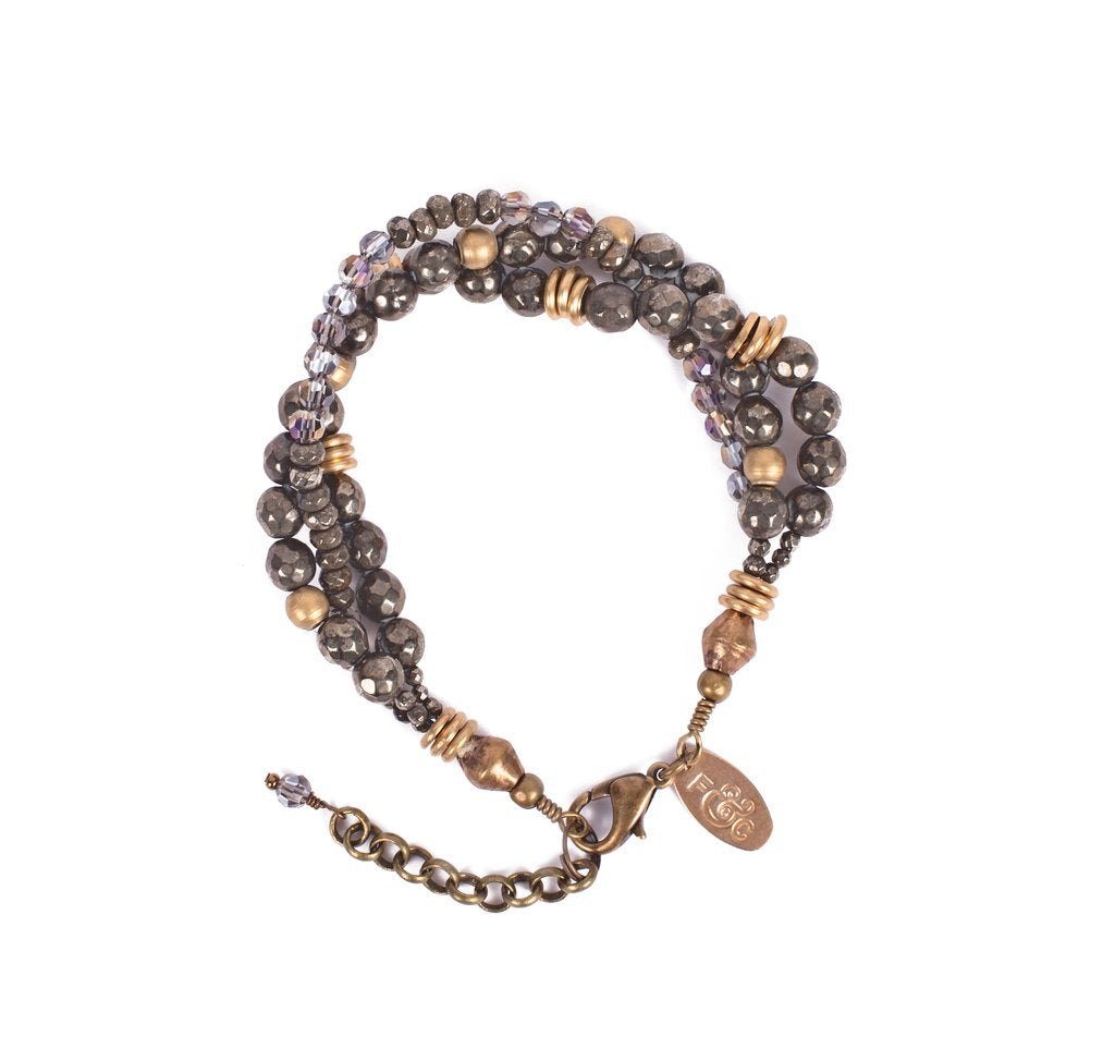 Heather Pyrite Bracelet