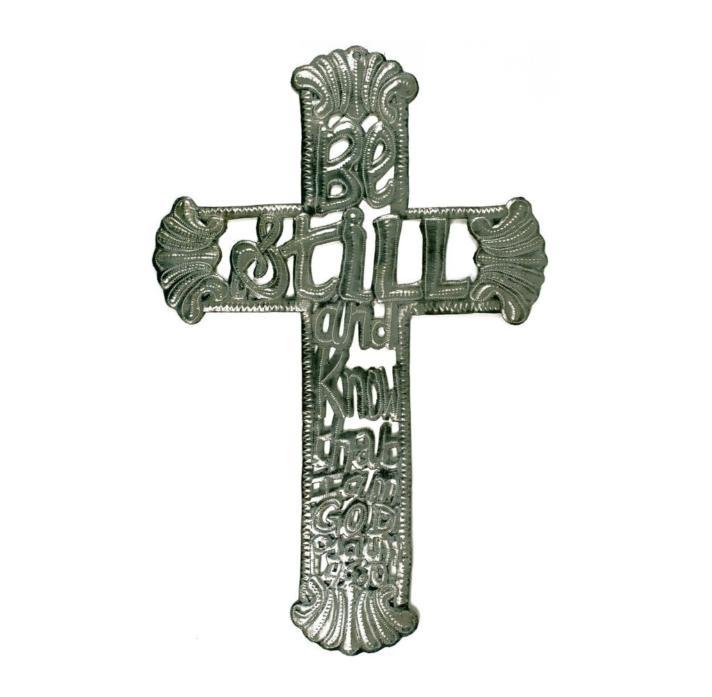 Haitian Steel Drum Cross- Large