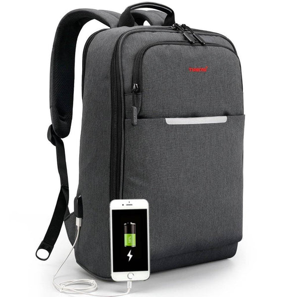 6b5cae1de6 Norsens 15.6 Inch Slim Business Environmental Friendly Laptop Backpack with  USB Charging Port