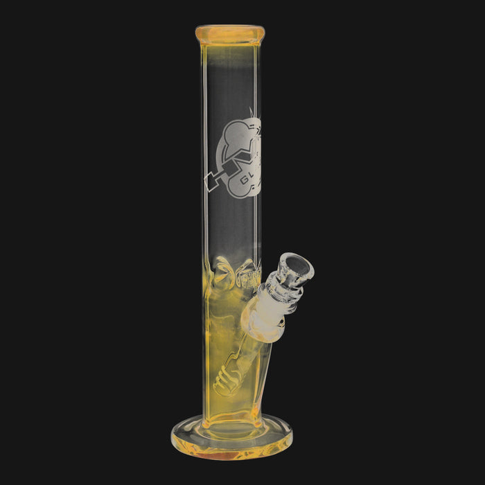 HVY Glass - Mini 38MM Color Changing 10-Inch Glass Straight Tube Water Pipe