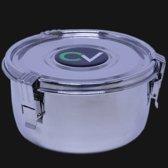 CVault - Large 2 OZ. Airtight Stainless Steel Storage Container