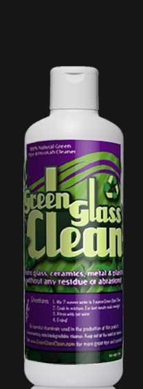 Green Glass Clean - Glass Pipe Cleaner 8 OZ.