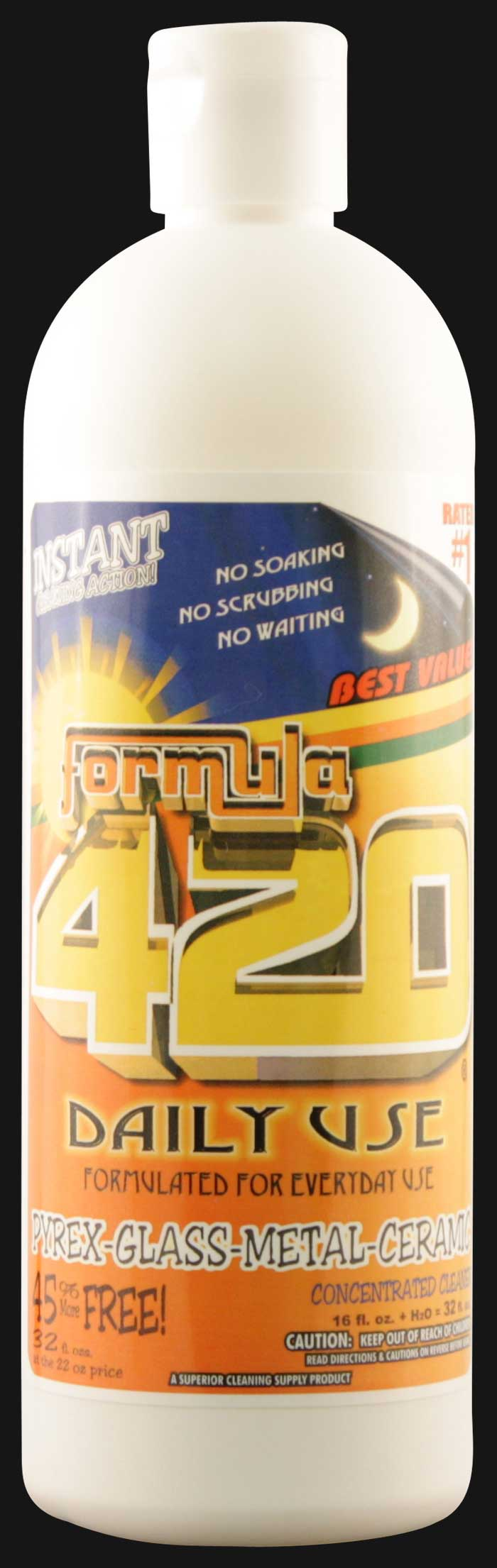 Formula 420 - Daily Use Concentrated Glass~Metal~Ceramic Pipe Cleaner 16 OZ.