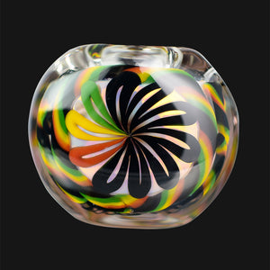 BC Glass - Clear Cane Latti Rasta Spoon Pipe