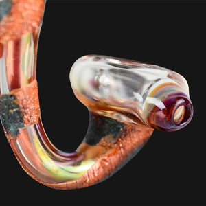 Cherry Glass - Mini Marble - Lava Patina Sherlock Pipe