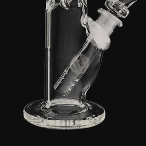 "HVY Glass - Mini 38MM Clear 11"" Straight Tube Glass Water Pipe"