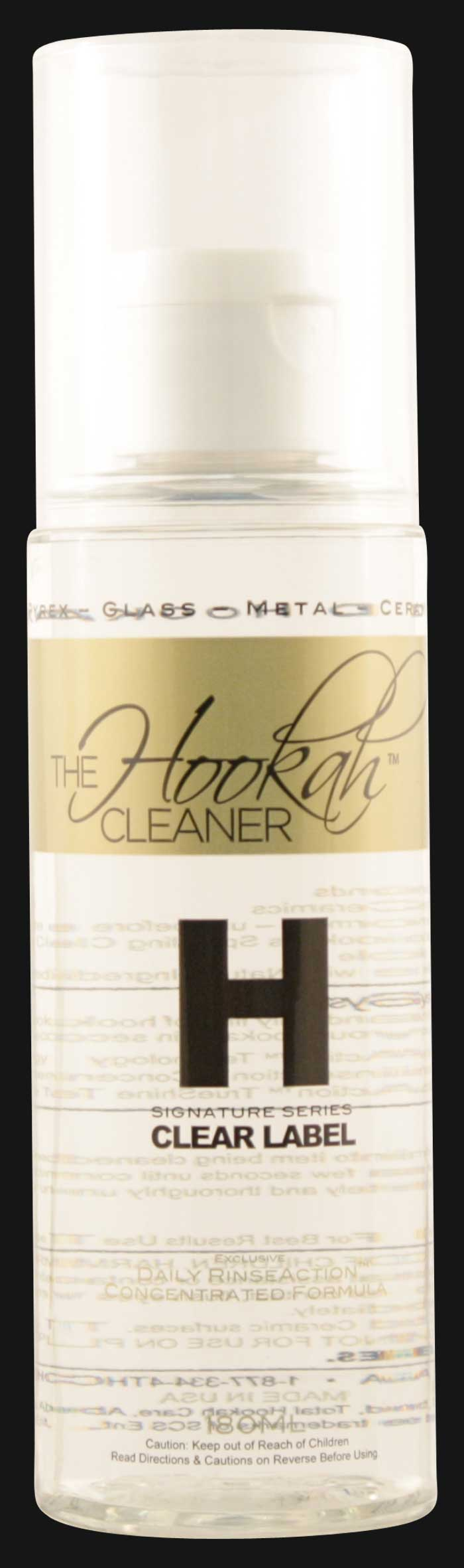 The Hookah Cleaner - Clear Label H Concentrated Pipe Cleaner 180 ML.