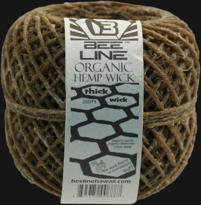 Bee Line Organic Hemp Wick 200 ft. Spool - Thick