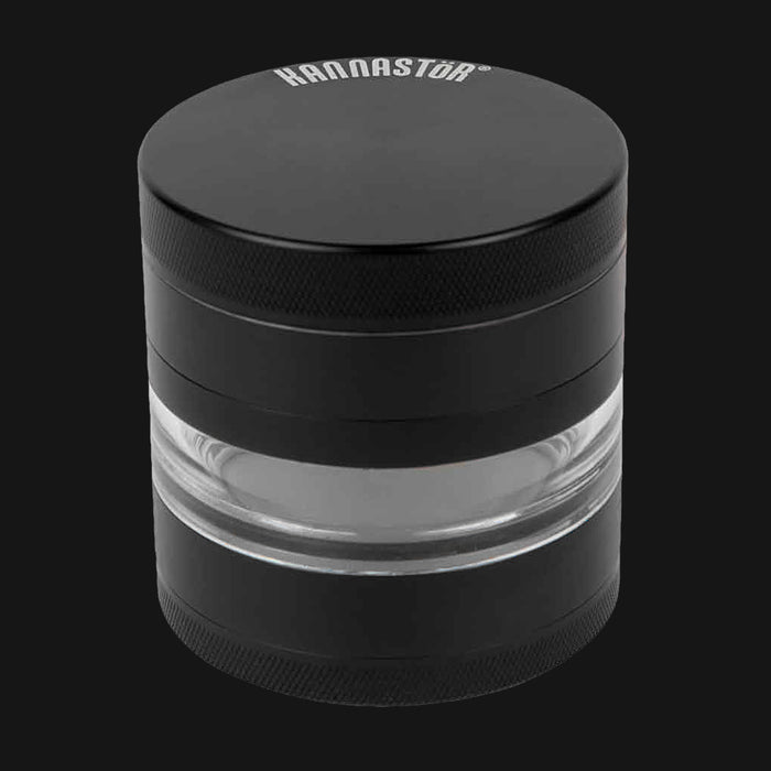 Kannastor - Black Solid Jar Body 4-Piece 2.5-Inch Herb Grinder