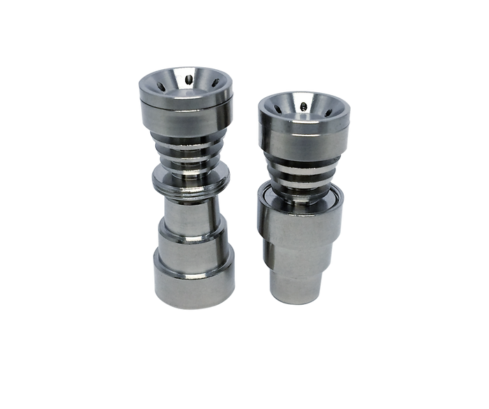 DabMove - OG2 Triple Fin 4-In-1 Dish Universal Domeless Titanium Nail - 14-18mm Male/ Female