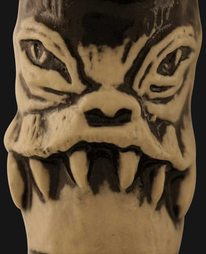 JM Ceramics - 6 Tooth Frown 3.25-Inch Ceramic Hand Pipe