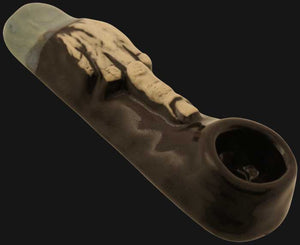 JM Ceramics - Large Middle Finger 3.75-Inch Ceramic Hand Pipe