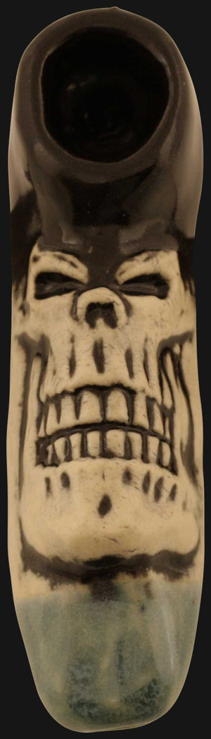 JM Ceramics - Medium Skull 3.25-Inch Ceramic Hand Pipe