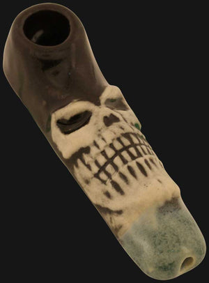 JM Ceramics - Mini Skull 2.5-Inch Ceramic Hand Pipe