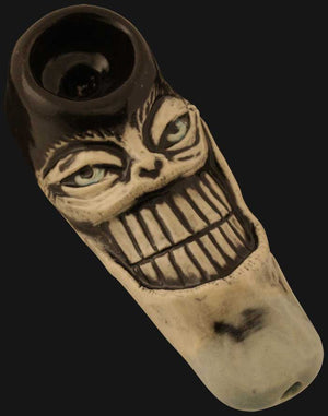 JM Ceramics - Small Big Grin 3-Inch Ceramic Hand Pipe