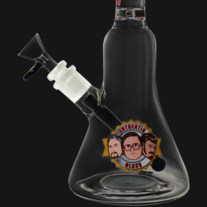 "Trailer Park Boys - The Boys Authentic 12"" Bent Neck Beaker Glass Water Pipe"