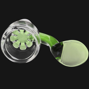 Star Screen Handle Bowl - 18mm Dry Herb Large Male Glass Bowl
