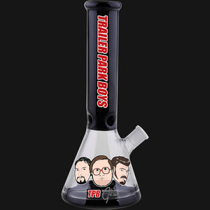 "Trailer Park Boys - The Boys 12"" Black Beaker Glass Water Pipe"