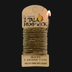 I-Tal - Organic Hemp Wick Dispenser - 16.5 ft