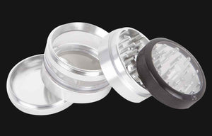 "Kannastor - Clear-Jar 4pc 2.5"" Grinder"