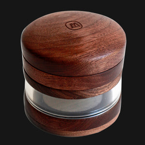 Marley Natural - Large 4-Piece 3-Inch Wood Herb Grinder