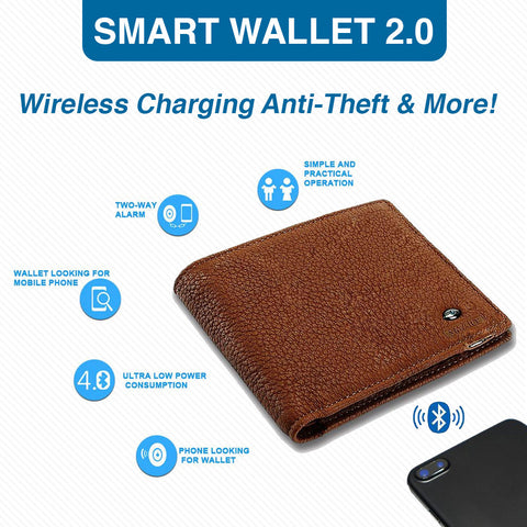 Smart Wallet 2.0 - Wireless Charging, Anti-Theft & More!