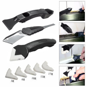 3 in 1 Silicone Scraper Caulking Grouting Tool