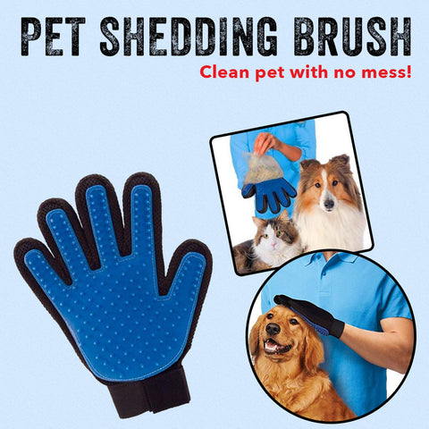 Pet Shedding Brush - Clean pet with no mess!
