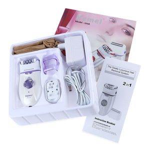 2 in 1 Electric Epilator Shaver