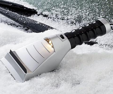 Image of Heated Car Windshield Ice Snow Scraper