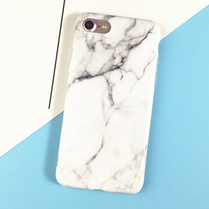 Black White Marble Painted Case For iphone
