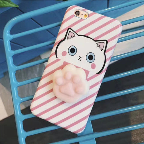 Image of 3D Soft Silicone Sleeping Kitty Unicorn Phone Case
