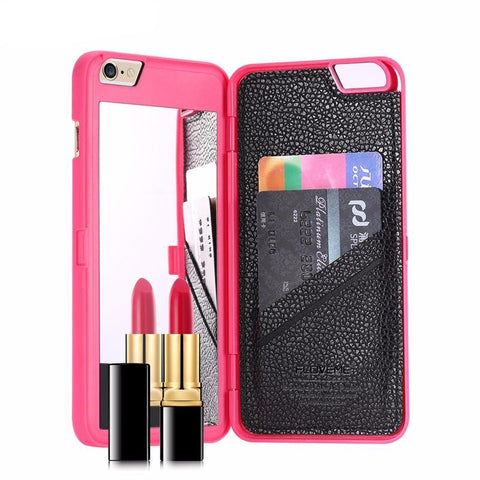 Image of Wallet+Card Slot Cover Makeup Phone Cases