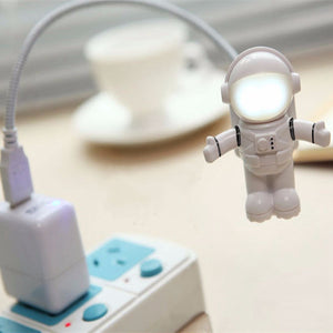 White Mini Flexible Spaceman Astronaut USB Tube Light