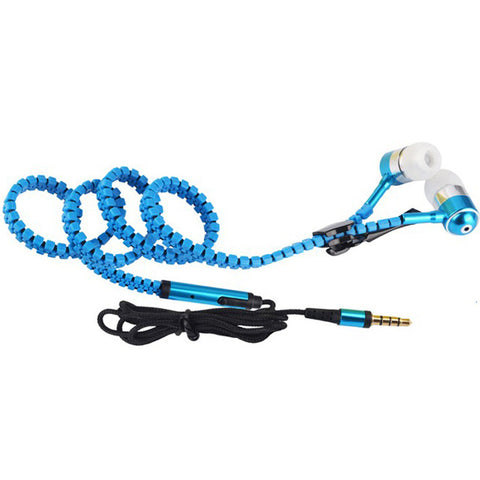 Zipper Earphone 3.5mm In-Ear Wired