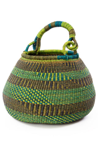 Blue & Green Kettle Basket