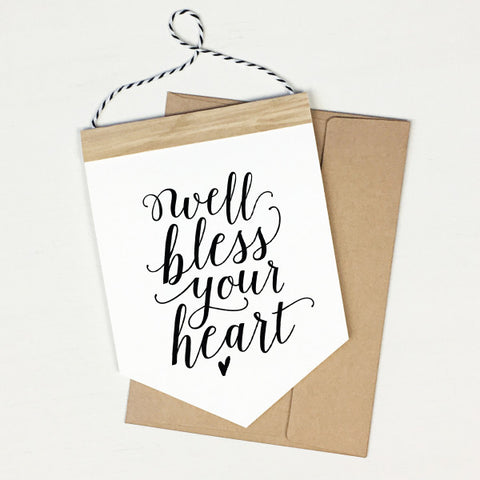 Bless Your Heart - Banner Greeting Card