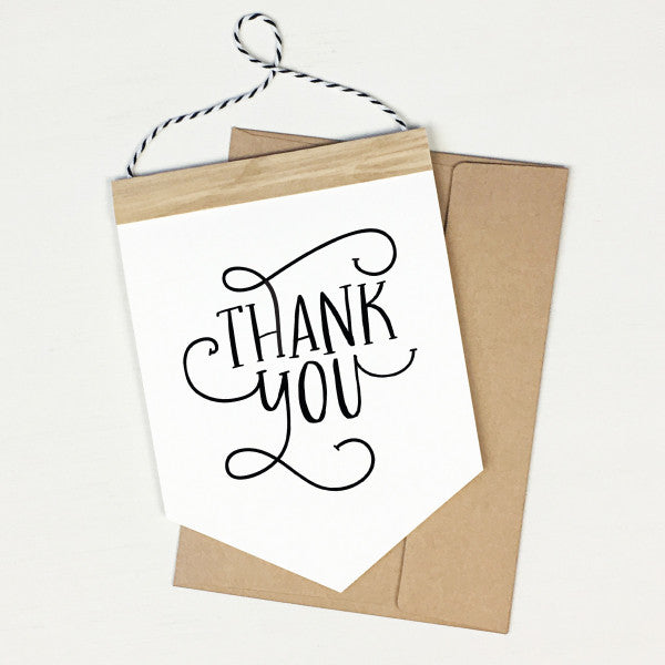 Thank You - Banner Greeting Card