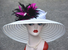 Women's Fashion Feather Floral Hat