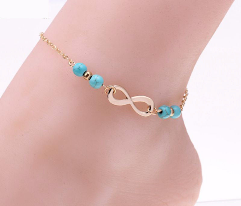 Gold Plated Infinity Ankle Bracelet