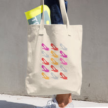 "Cotton Tote Bag ""My Shoes"" Print"