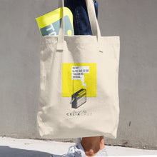 "Cotton Tote Bag ""Radio"" Print"