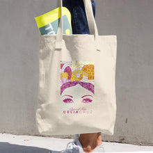 "Cotton Tote Bag ""Her Eyes"" Print"