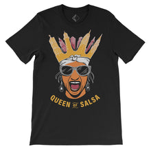 "Men Graphic Tee ""Queen of Salsa"" Print Short Sleeve T-shirt Tops"