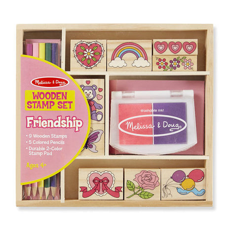 Melissa & Doug - Wooden Stamp Set - Friendship