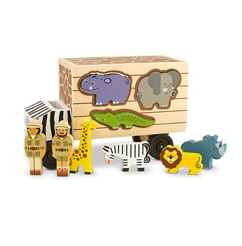 Melissa & Doug - Animal Rescue Wooden Play Set Truck