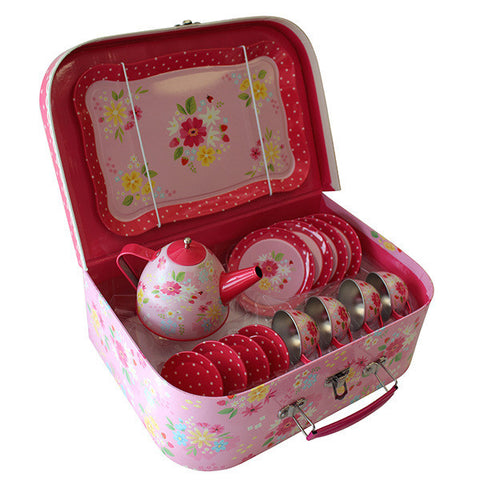 Tiger Tribe - Vintage Tin Tea Set - Strawberry Fields