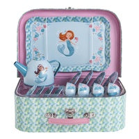 Tiger Tribe - Vintage Tin Tea Set  - Mermaid