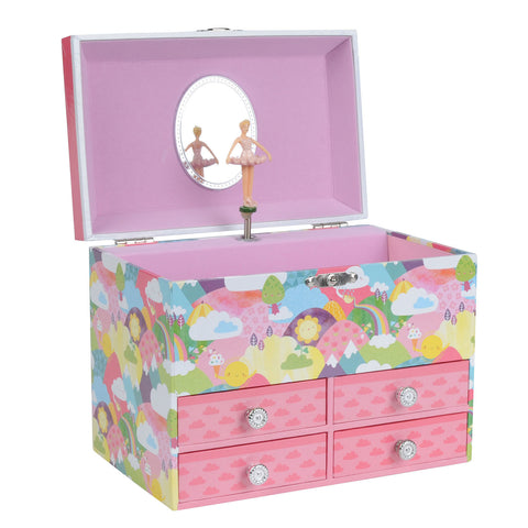 Tiger Tribe - Jewellery Box - Rainbow Hills (Large)